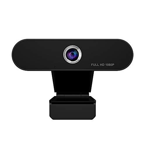 iAmotus Webcam Full HD 1080P mit Mikrofon, PC Laptop Desktop USB 2.0 Plug & Play Kamera für Videoanrufe, Telearbeit, Videokonferenz, Online Kurs und Heimarbeit/YouTube, Skype, Zoom, Xbox One