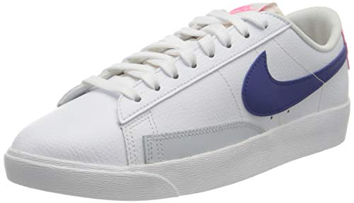 Nike Blazer Low, Chaussure de Basketball Femme, White Concord Hyper Pink Pure Platinum, 40 EU