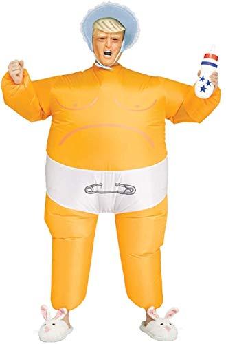Fun World Adult Baby Prez Inflatable Trump Costume Orange