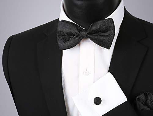 Alizeal Mens Classic 5pc Paisley Jacquard Suit Vest Set
