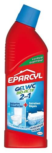 Eparcyl 2en1 – Gel WC (0.750L) Spécial Fosse Septique – Produit WC Détartrant + Entretien Fosse Septique – Fraicheur Océan