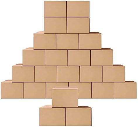 SCHLIERSEE 소형 운송 골판지 상자 우편물 4X4X4 인치 크래프트 해운 상자 25 팩