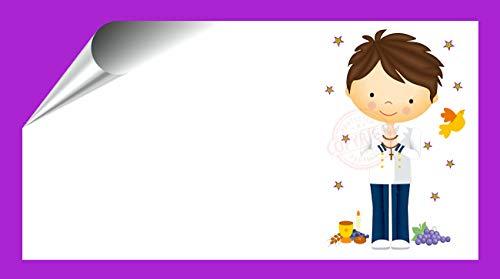 Kit 96 Etiquetas Mi Primera COMUNIÓN - Pegatinas Adhesivas Niño Marinero Comunión para Regalo, Invitacion, Fiesta, Candy Bar, Obsequios, Botes Chuches, Dulces, Tarros