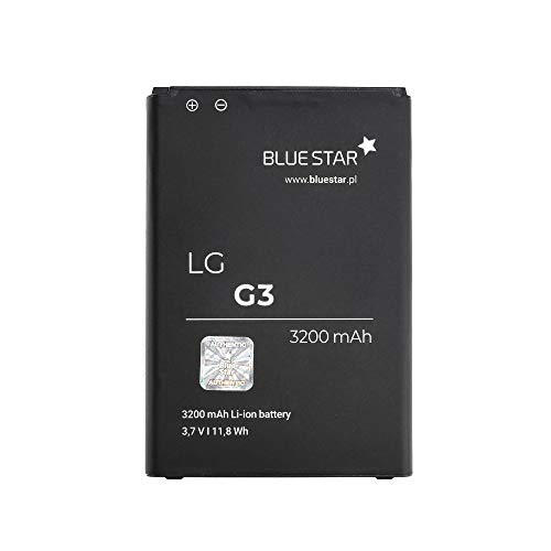 Blue Star Premium - Batería de Li-Ion litio 3200 mAh de Capacidad Carga Rapida 2.0 Compatible con el LG G3