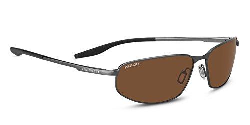 Serengeti Erwachsene Matera Sonnenbrille, Brushed Black, Medium