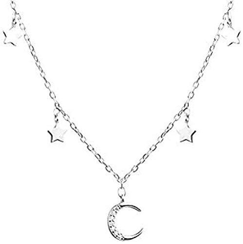 LKLFC Collar de Mujer, Collar de Temperamento Simple para Hombre, Collar de Cadena de clavícula Corta para Mujer, Collar con Colgante, Regalo para niñas y niños