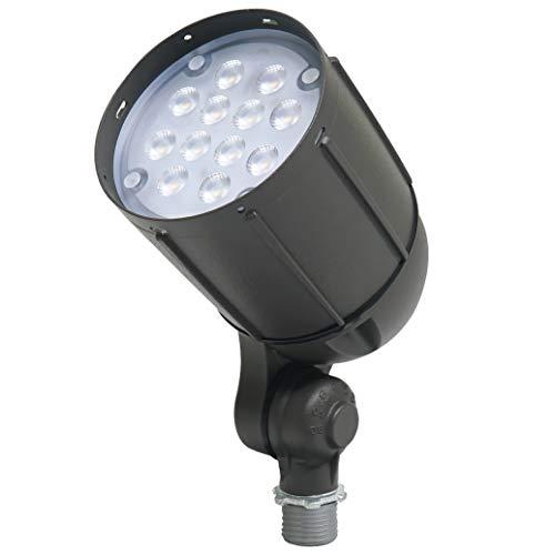 Newhouse Lighting Spotlight V5BLF12BRZ 12-Watt Die-Cast Aluminum LED Bullet Flood Outdoor, Weatherproof Landscape Lighting 1400 Lumens, 3000K Warm...