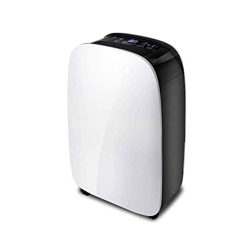 ZOUSHUAIDEDIAN Deshumidificador de hogar, pequeños deshumidificadores portátiles tranquilos con Apagado automático for sótano, baño, RV, Oficina, deshumidificador Multifuncional, Blanco