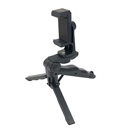 Xusuyunchuang Negro Portátil Estabilizador de teléfono del Montaje del Clip Mini sostenedor del trípode de cámara giratoria Extensible for iPhone Samsung Huawei Xiaomi Yi Acción (Color : Black)