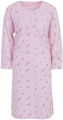 Lucky Thermo Nachthemd mit Blumendruck, Größe:XXL;Farbe:Rosa