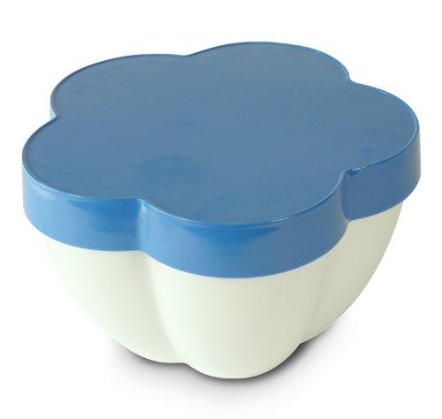 COOKUT FLORBL Design Olivia Putman Saladier + Plateau à Dips + Plateau Mélamine Bleu 25 cm