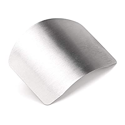 Zelta Finger Guard Slicing Cutting Protector 2.6 Inches Stainless Steel Finger Protector Cutting