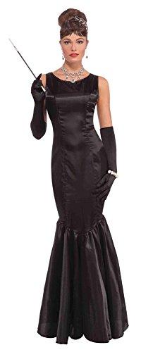 Forum Novelties AC547 High Society Langes Kleid, Schwarz Kostüm, one Size