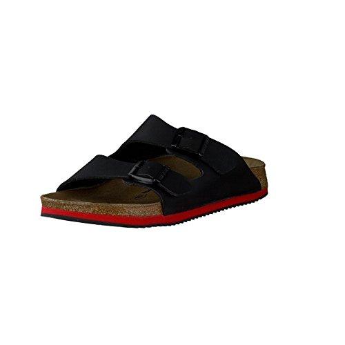 Birkenstock Professional ARIZONA - zuecos de material sintético unisex, negro - Noir (black Ls Black/red), 45