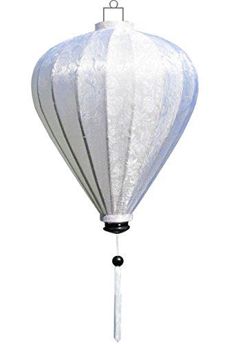 Lampionsenzo Vietnamesische Seide Lampion Ballon Weiß by