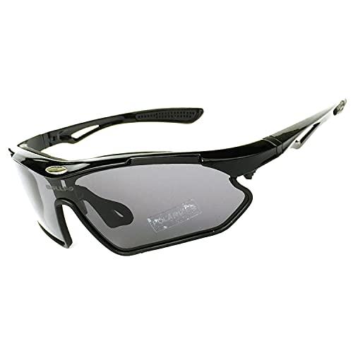 JIAYANLH Gafas de Sol Deportivas Polarizadas con Protección UV 400 Conducción MTB Gafas Ciclismo Correr Conducir Pesca Golf para Hombres y Mujeres (E)