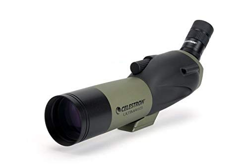 Celestron – Ultima 65 Angled Spotting Scope with Smartphone Adapter – 18 to 55x65mm Zoom Eyepiece – Multi-Coated Optics for Bird Watching
