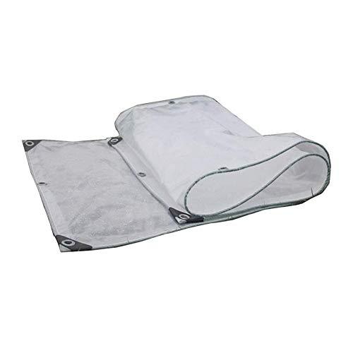 Wangcfsb Transparante folie voor dekzeil, anti-aging PE-isolatie, met metalen kippenogen van metaal, transparant glas, voor buiten, zonwering voor isolatie van het zeil