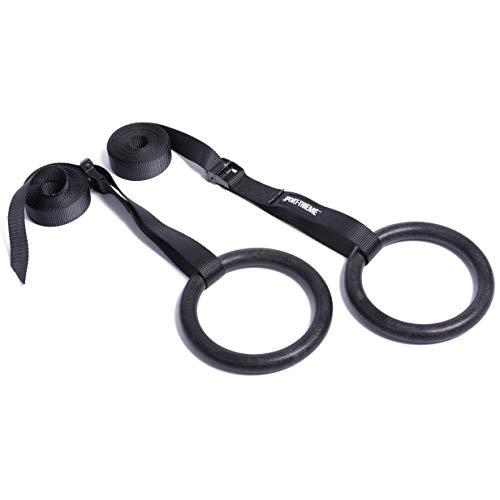 Sport-Thieme Outdoor-Turnringe Crosstraining | Gymnastikringe Set | Gym Rings mit verstellbarem Gurt | Fitnessringe...
