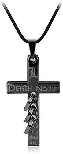 WYDSFWL Collares Moda Japón Película sospechosa Death Note L Collar Perforado para Mujeres Hombres Collares Pendientes Encantos Joyería de Moda Collares