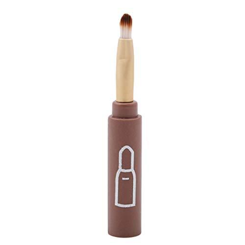 Underleaf 4pcs / set Pinceaux De Maquillage Ombre Brosse En Gros Brosse À Lèvres Angled Brow Brush Outils Cosmétiques (marron)