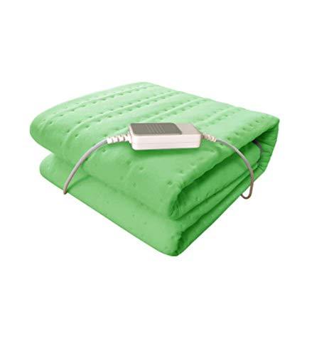 Heizdecken, Einzelbett Beheizte Heizdecke Beheizte Decke Waschbares Vlies 3-Gang-Temperaturregulierung, Ultra-Frisch-Antibakteriell, Grün