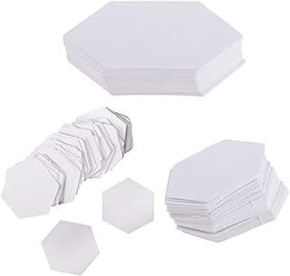Qiuerte 300 Pieces Hexagon Paper Quilting Templates Paper Piecing DIY Patchwork 3 Sizes