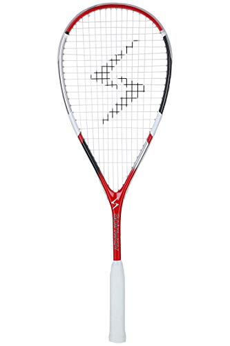 spinway Professional Light Weight Composite Red Squash Racket , AK 50 with Comfortable Grip and Full Cover Bag