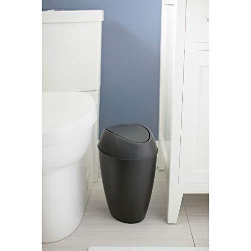 Umbra Twirla - Papelera, Color Negro