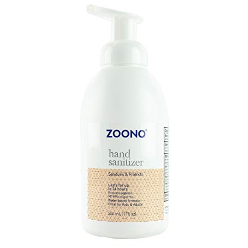 ZOONO 24 Hour Hand Sanitizer Foam - Keeps Killing 99.9% of Germs for All Day Protection - Home Size 17 Fl Oz, 1-Pack