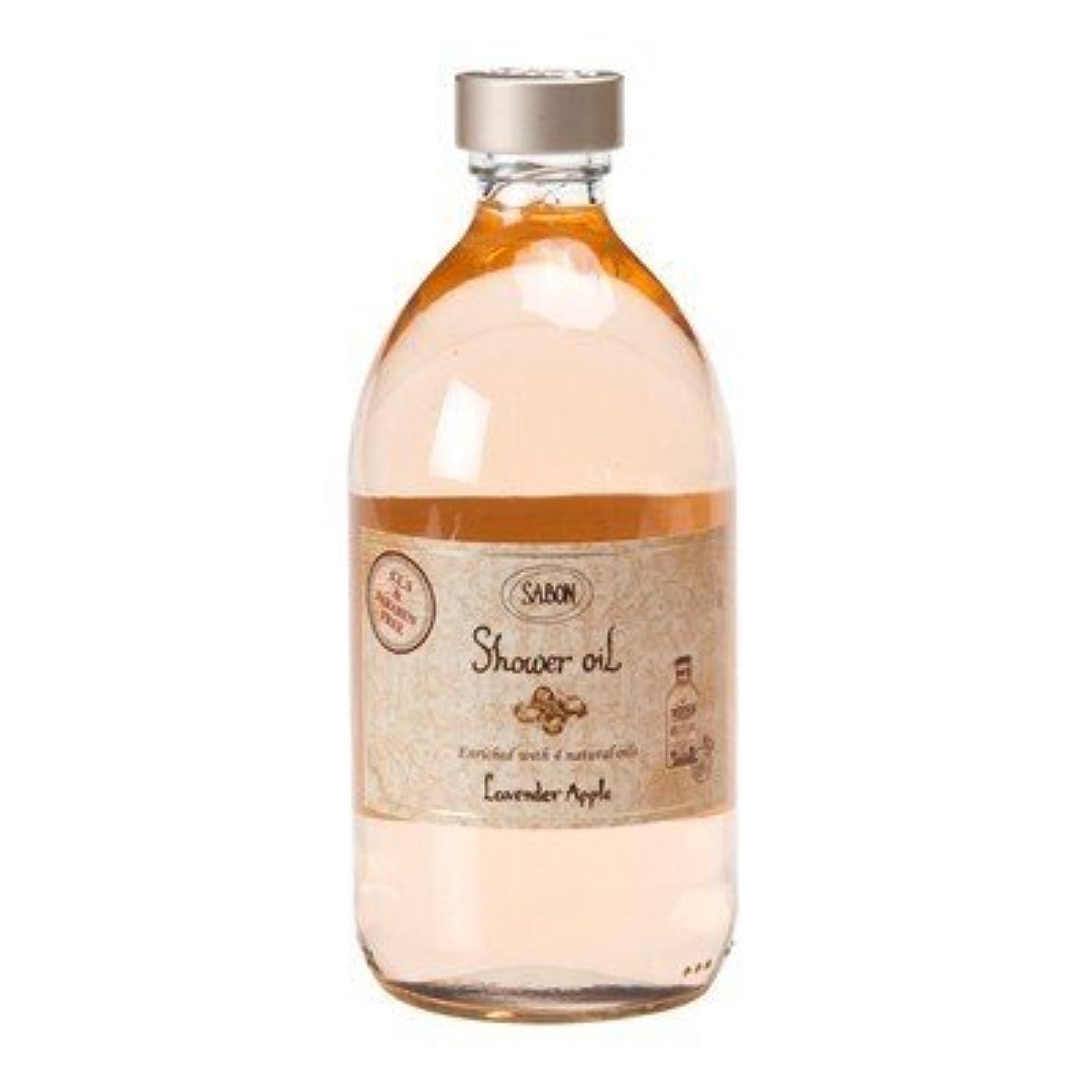 硬化する菊ドルサボン シャワーオイル ラベンダー アップル 500ml 並行輸入品 (ポンプ付き)