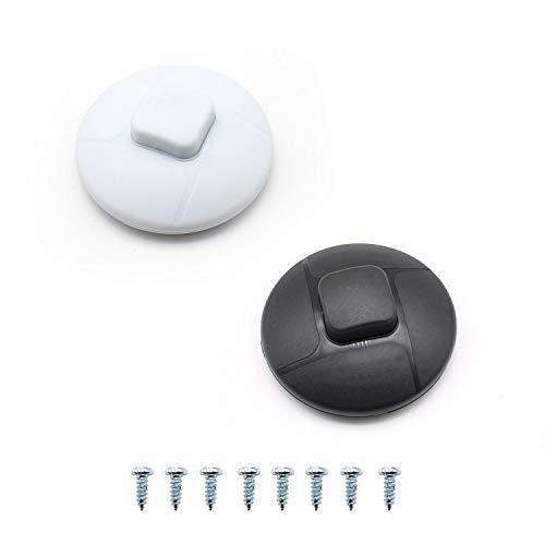 LERANXIN 2 Piezas de Interruptor de Pie, Interruptor de Pie a dos Colores, Termoplástico,Interruptor Torpedo, Apto para Lámpara de Piso y Mesa, 2A 250W