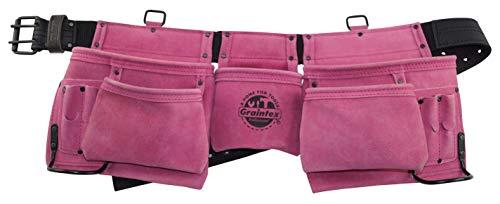 11-Pocket Pink Work Apron with 2 inch Belt