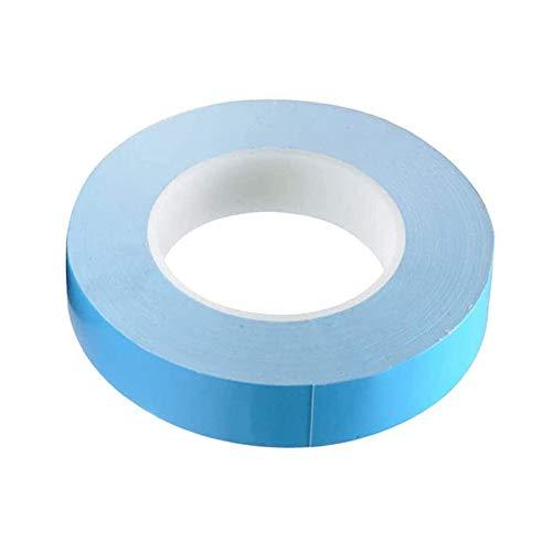 Gobesty Thermisches Klebeband, 25 M*20MM Wasserdichtes Dichtungsband, Doppelseitig klebstoff super Starkes thermisches leitendes Klebeband, für chip Streifen kühlkörper Gute Wasserbeständigkeit (Blau)
