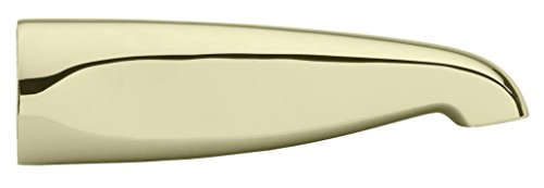 "Westbrass Standard 8-1/2"" Brass Tub Spout, Polished Brass, D3101-01"