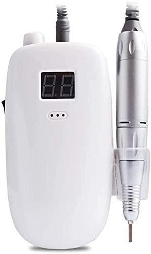 Elektrische Nagelboormachine-Draagbare Pedicureset Voor Nagelverzorging Voor Acrylnagels En Gelnagels 35000 RPM (Color : White)