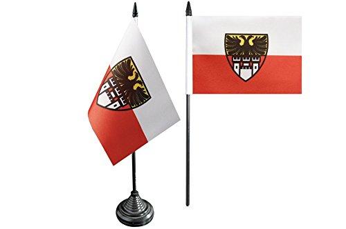 Flaggenfritze® Tischflagge Deutschland Stadt Duisburg - 10 x 15 cm