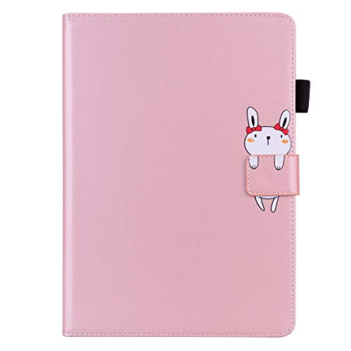 Unichthy New iPad 8th Gen 2020 / 7th Generation 2019, iPad 10.2 Cute 3D Animal Patterned Shockproof Case with Anti-slip Stand Auto Wake/Sleep Cover for iPad 8 / iPad 7 10.2 inch Bunny/Rose Gold