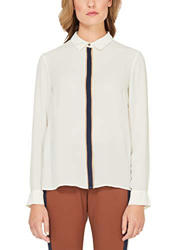 s.Oliver BLACK LABEL Damen 11.909.11.5534 Bluse, Beige (Cream White 0220), (Herstellergröße: 40)