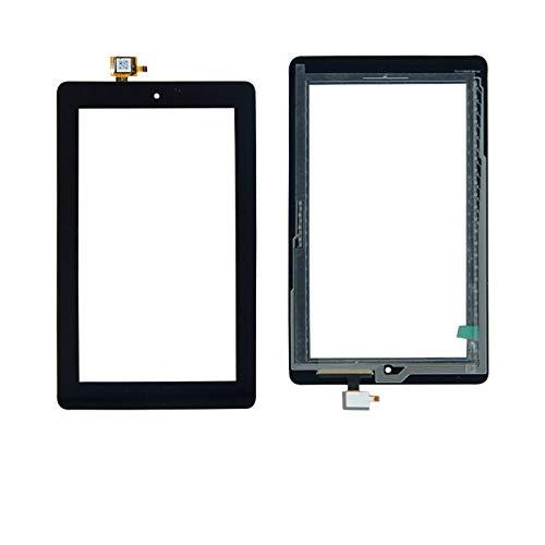 Kit de repuesto de pantalla compatible con Amazon Kindle Fire 7 5TH 5 Tab Gen SV98LN Touch Screen Digitalizador Panel de cristal con herramientas gratuitas Kit de reparación de pantalla (color: negro)
