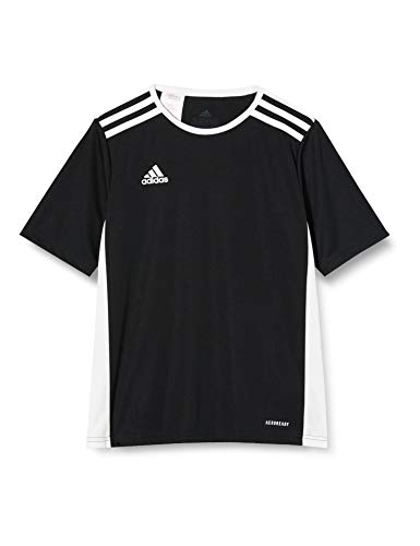 adidas Entrada 18 Jsyy Camiseta de Manga Corta, Niños, Black/White, 910Y