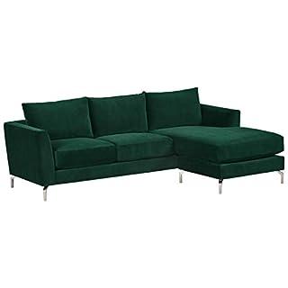 "Amazon Brand – Rivet Emerly Modern Sofa Chaise, 96""W, Emerald (B07HZ75QTT)   Amazon price tracker / tracking, Amazon price history charts, Amazon price watches, Amazon price drop alerts"