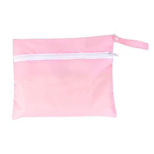Simlug 5 UNIDS Bolsa de Almacenamiento a Prueba de Agua para el bebé out Bañadores de pañales Ropa Que Cambia Cuelgue Bolsa de Almacenamiento de Cochecito(Rosado)