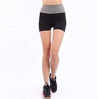 Women Slim Shorts Fast Drying Drawstring Female Ladies Anti Emptied Contrast Elastic Waist Correndo Short Pants : A