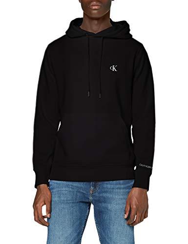 Calvin Klein CK Essential Hoodie Maglione, Black, S Uomo