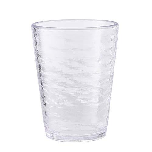KLIFA- Premium Acrylic Drinking Glasses, Set of 6, 16 oz, BPA-Free, Stackable Drinkware Tumblers, Dishwasher Safe, Clear