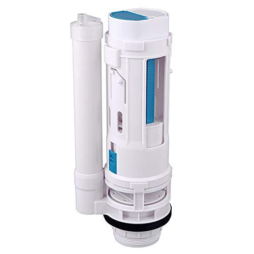 Gelentea - Válvula de Drenaje para Inodoro con Doble botón, Tanque de Agua Conectado con 2 Piezas de reparación de Drenaje de Entrada de Cisterna de Inodoro, 29cm