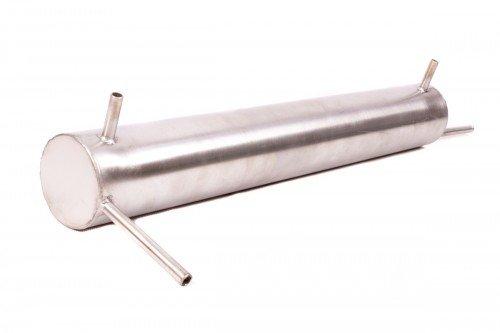 AlcoFermBrew Graham-kondensator für Destillation 40cm - Edelstahl + 1m Silikonschlauch | Destilliergerät | Destillierapparatur | Säurebeständigkeit