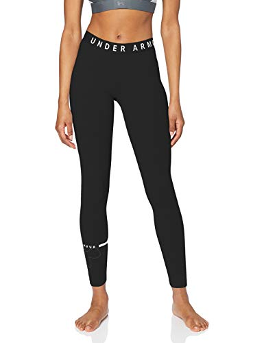 Under Armour Favorite Big Logo Leggings, Mujer, Negro (Black/Black/White 001), M
