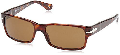 Persol Sunglasses - PO2803 / Frame: Havana Lens: Crystal Brown Polarized 58 mm Lens/16 mm Bridge/140 mm Temple